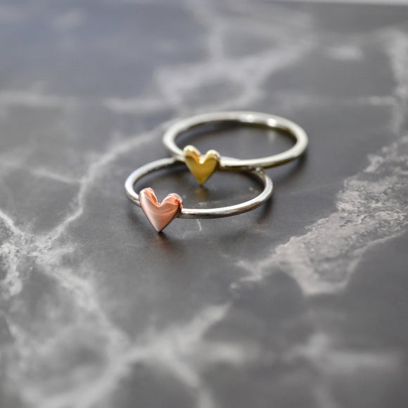 Heart Ring (two-toned)