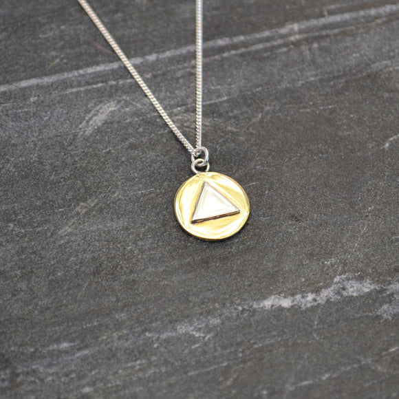Triangle Disk Necklace