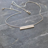 Plate Necklace with Letter Stamp