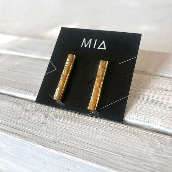 Textured Bar Earrings