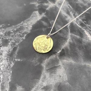 1/2 Cent Disk Necklace