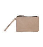 """Lucy"" Vegan Leather Clutch Wristlet"