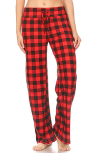 Buffalo Check Yoga Band Lounge Pants