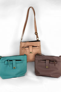"""Josie"" Vegan Leather Crossbody with Wallet Insert (multiple colors available)"