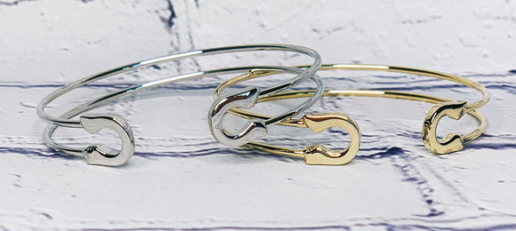 Safety Pin Cuff Bracelet (2 Colors Available)