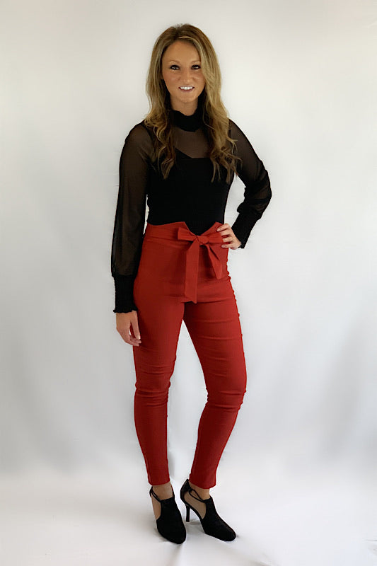 Women's High Waist V-Top Pants