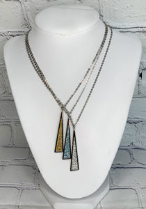 Stardust Triangle Necklace (Multiple Colors Available)