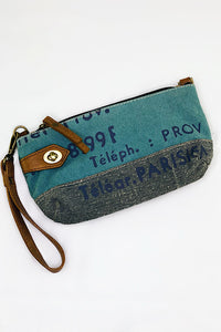Up-cycled Canvas Crossbody Bag and Wristlet