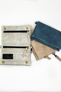 """Chloe"" Vegan Leather Crossbody Bag and Wristlet (Multiple Colors Availabale)"