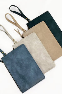 """Lucy"" Vegan Leather Clutch Wristlet (Multiple Colors Available)"