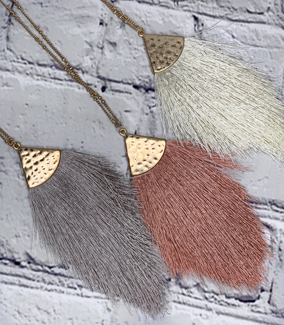 Tassel Pendant (Multiple Colors Available)