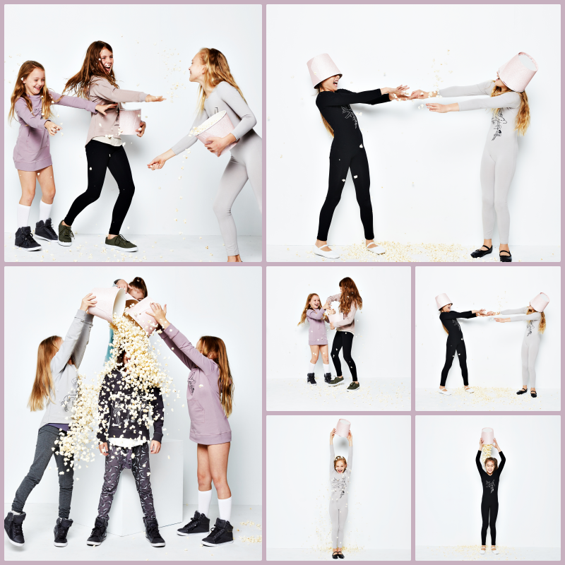 Photoshoot popcorn fight from Lani the Carni Launch