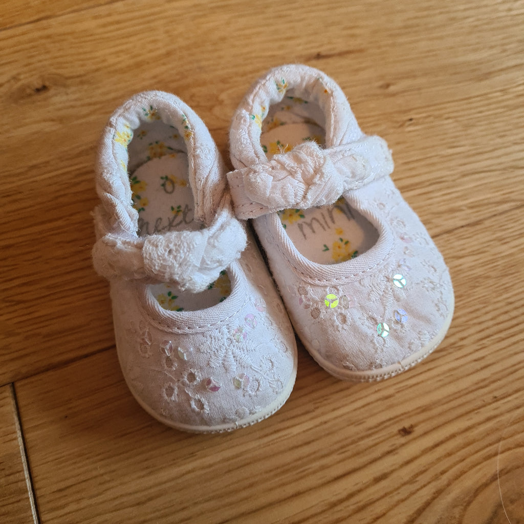 Next Baby Shoes, Girls Size 0-3 Months