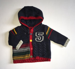 Mothercare Knit Jacket, Boys Up to 1 Month