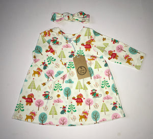 Little Me Designs Dress and Headband, BNWT, Girls 9-12 Months