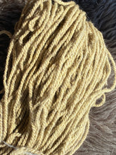 2 ply worsted weight dyed with tansy