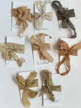 Botanically dyed silk ribbons
