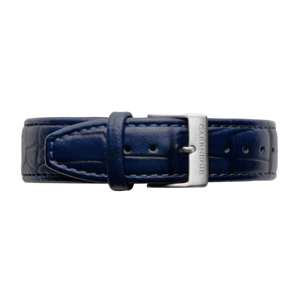 MIDNIGHT BLUE LEATHER (CROC)