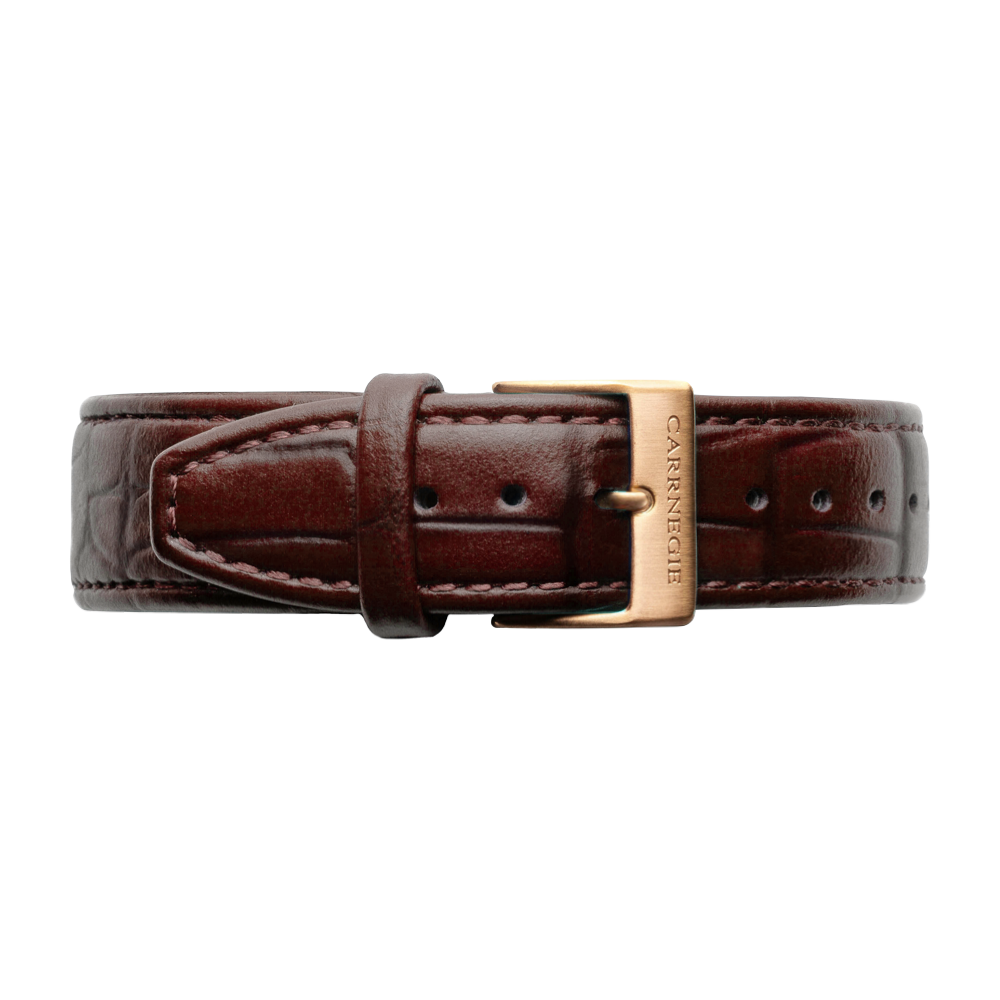 CHOCOLATE BROWN LEATHER (CROC)