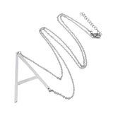 Stainless Steel Letter Pendant Neckless Makes A Statement
