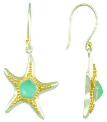 Sea Foam Starfish earrings
