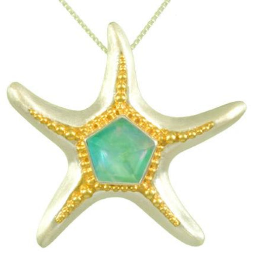 Seafoam starfish necklace