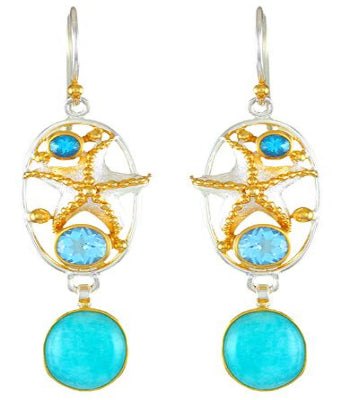 Caribbean Blue Earrings