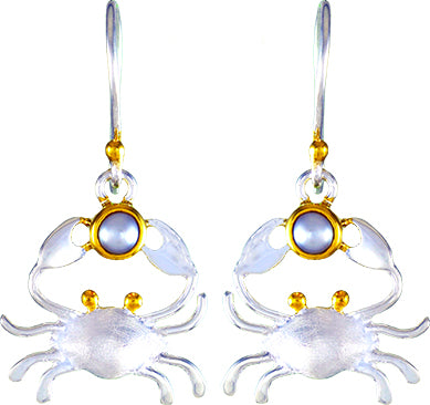 Pearl Happy Crab Earrings