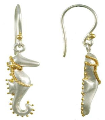 Sea Horse made of Sterling Silver and 22K Gold