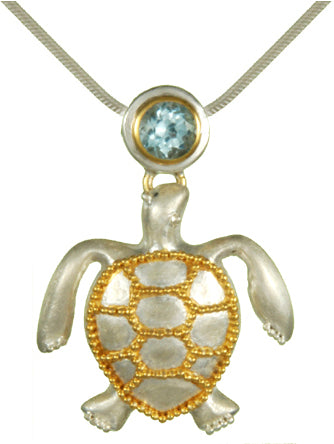 Turtle with Blue Sky Topaz