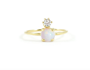 Opal & Diamond Double Dose Ring from LA Kaiser