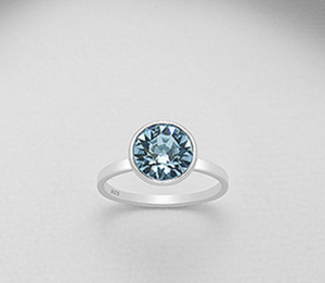 Gumdrop Ring- Blue Topaz