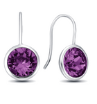 Amethyst Gumdrop  Earrings in multiple colors