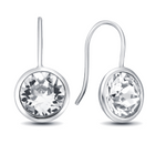 Diamond Gumdrop  Earrings in multiple colors