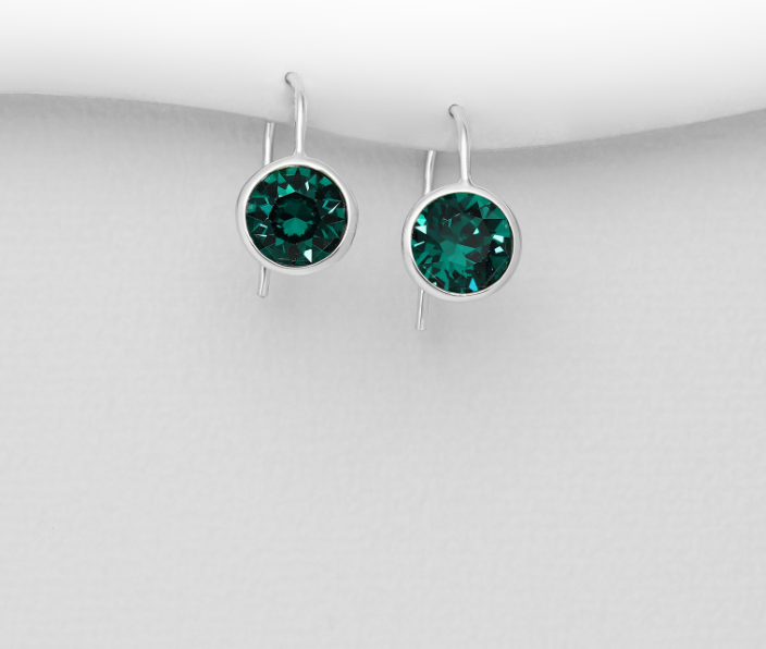 Emerald Night Gumdrop  Earrings in multiple colors