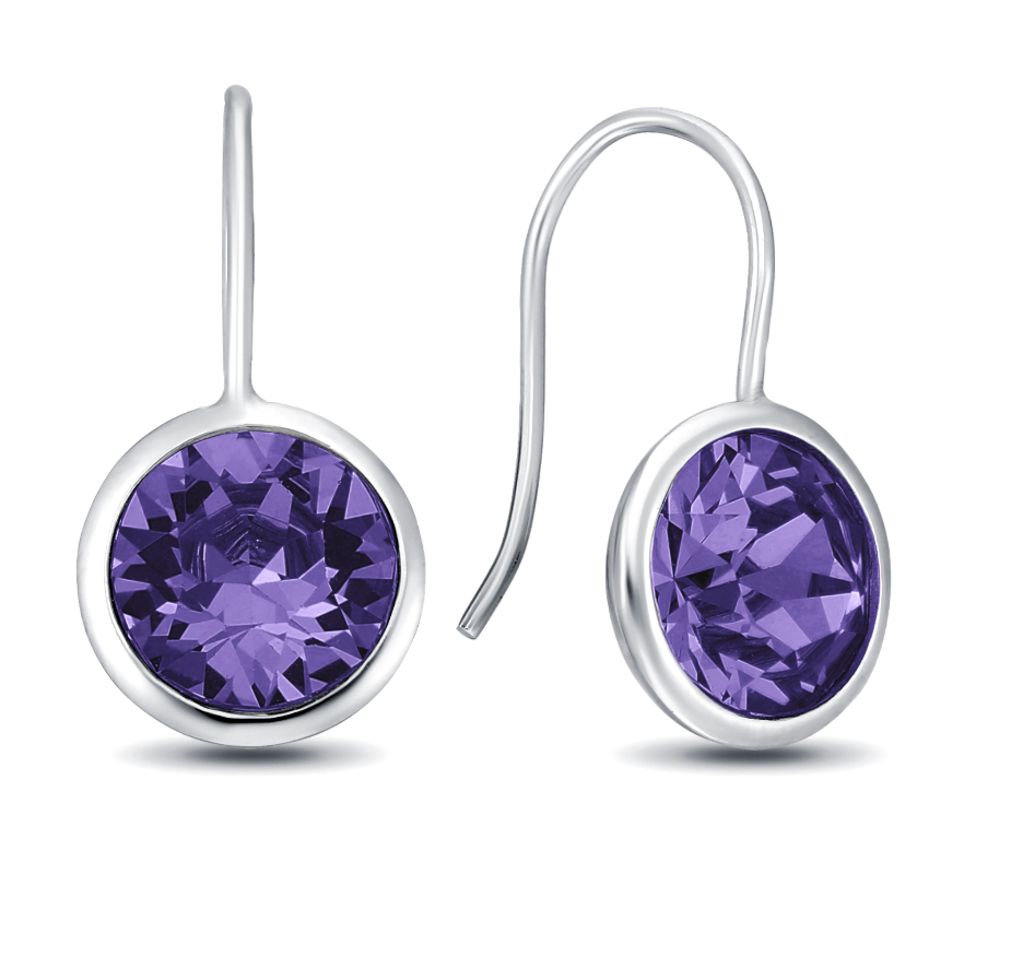 Tanzanite Gumdrop  Earrings in multiple colors