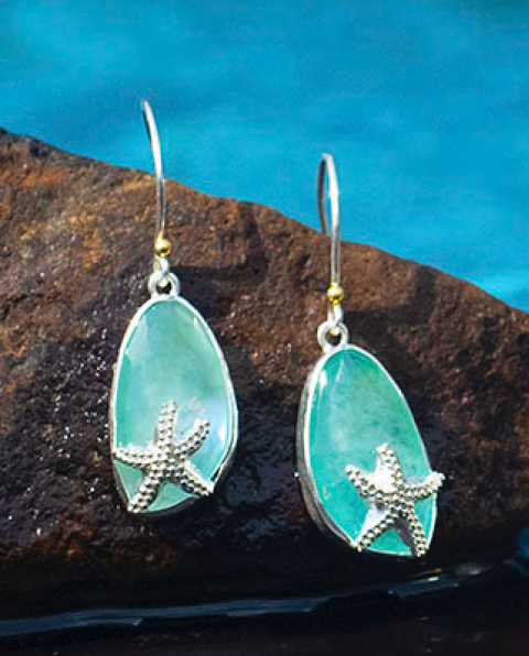 Starfish and Sea Tide Earrings