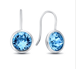 Gumdrop Earrings in Blue Topaz