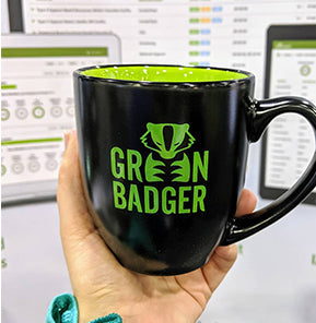 Green Badger Mug
