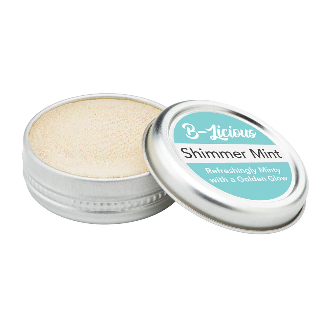 Shimmer Mint Lip Balm Tin