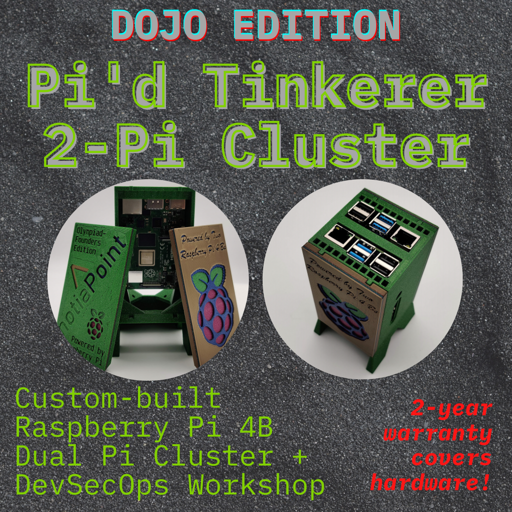 DevSecOps Dojo Edition Pi'd Tinkerer Bundle | Dual Raspberry Pi Cluster Home Lab & Workshop - notiaPoint, Inc.