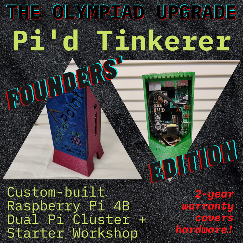 The Olympiad Upgrade | Founders' Edition Pi'd Tinkerer Home Lab Dual Pi Cluster Collector Bundle (Workshop Included), notiaPoint, Inc., notiaPoint, Inc. - notiaPoint, Inc. - learn cybersecurity privacy technology