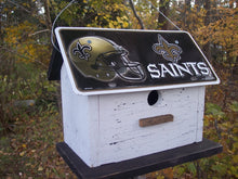Load image into Gallery viewer, License Plate Birdhouse New Orleans Saints