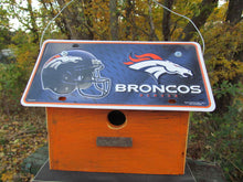 Load image into Gallery viewer, License Plate Birdhouse Denver Broncos