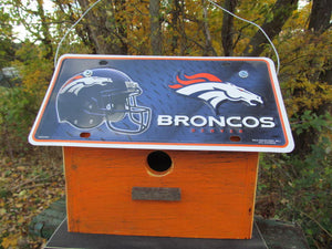 License Plate Birdhouse Denver Broncos