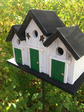 Load image into Gallery viewer, Triplex Primitive Birdhouse Three Compartments