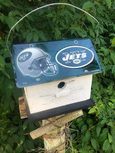 License Plate Birdhouse New York Jets