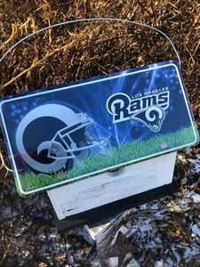 License Plate Birdhouse Los Angeles Rams