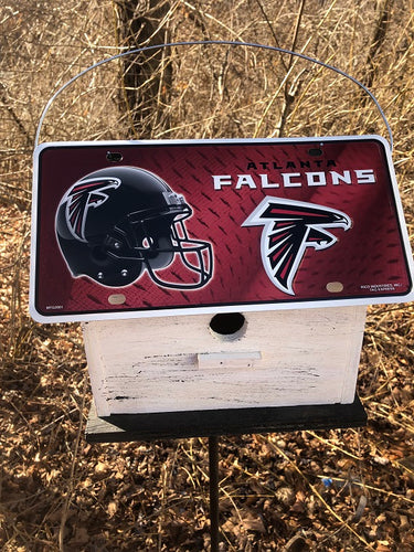License Plate Birdhouse Atlanta Falcons