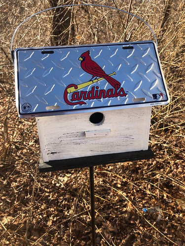 License Plate Birdhouse St. Louis Cardinals